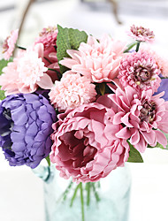 11inch Large Size 12 Heads Silk Polyester Roses Tabletop Flower Artificial Flowers