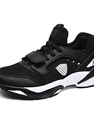 Women's Athletic Shoes Comfort Light Soles Lycra Breathable Mesh PU Spring Fall Athletic Casual Outdoor Office & Career RunningComfort