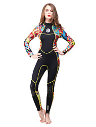 HISEA® Women's 3mm Wetsuit Skin Full Wetsuit Thermal / Warm Quick Dry Sweat-wicking Cotton Diving Suit Long Sleeve Diving Suits-Diving