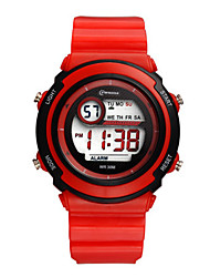 Kid's Sport Watch Digital Water Resistant / Water Proof Rubber Band Red Pink Purple