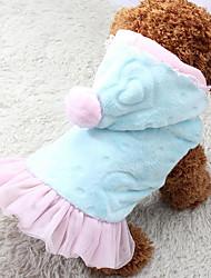 Chien Pulls à capuche Robe Vêtements pour Chien Décontracté / Quotidien Cœur Bleu Rose