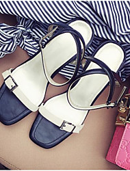 Damen High Heels Pumps Leder Sommer Normal Pumps Blockabsatz Khaki 5 - 7 cm
