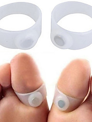 2PCS/1 Pair Magnetic Silicone Foot Toe Rings Pedicure Magnetic Therapy for Fitness Slimming Burn Fat Lose Weight Feet Care Fast Reduce Fats Body