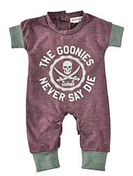 Baby Print One-Pieces Cotton Spring/Fall Summer Short Sleeve Skeleton Newborn Romper Baby Boys Jumpsuits Bodysuits Infant Clothes