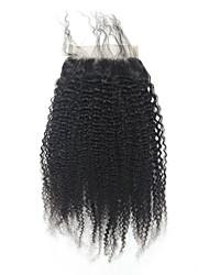 Afro kinky lockige 5x5inch Spitze Verschluss menschlichen Haar Spitzenspitze Verschluss mit Baby Haar