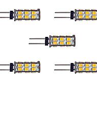 2W Двухштырьковые LED лампы 26 SMD 2835 145 lm Тёплый белый Белый DC 12 V 5 шт.