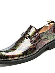 Для мужчин обувь Свиная кожа Весна Лето Осень Зима Формальная обувь Туфли на шнуровке Для прогулок Шнуровка Назначение Свадьба Для