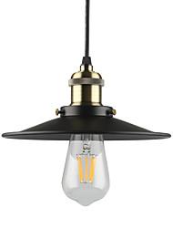 Vintage Black Pendant Lights 1-light Metal Living Room Dining Room Hallway Diameter 8.6in Pendant Lighting