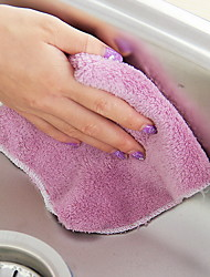 Thicker Wood Fiber Dishwasher Scouring Pad Color Random Kitchen Dishwashing Dispersed Wipes Non-Dip Brush