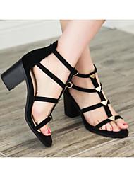 Damen High Heel Komfort Pumps Frühling Sommer Echtes Leder Normal Schwarz 5 - 7 cm
