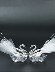 2PCS European Romantic Swan Wedding Favor Gift Box Candy Boxes Favors Celebration Party