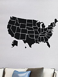 AYA DIY Map of the United States Wall Stickers  Home Decoration