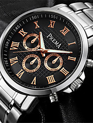 Men's Fashion Watch Quartz Calendar Water Resistant / Water Proof Noctilucent Alloy Leather Band Silver Brown