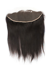 Luxurious Straight Brazilian Virgin Hair 13X4 Ear to Ear Lace Frontal Closure With Natural Hairline Free Part