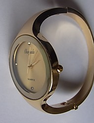Жен. Наручные часы Китайский Кварцевый Металл Группа Блестящие Кольцеобразный Повседневная Черный Белый Синий Красный Золотистый Розовый