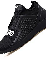 Men's Sneakers Light Soles Net Summer Fall Casual Outdoor Office & Career Light Soles Side-Draped Low Heel Light Grey Dark Blue Black