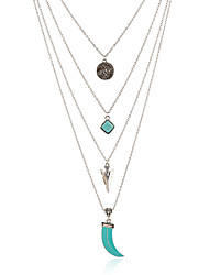 Women's Pendant Necklaces Metal Alloy Resin Dangling Style Tassel Jewelry For Club Street