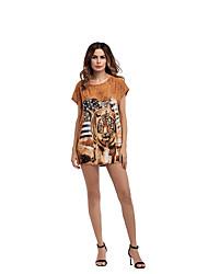 Для женщин Праздники На выход На каждый день Для клуба Пляж Секси Винтаж Уличный стиль Свободный силуэт Платье С животными принтами,