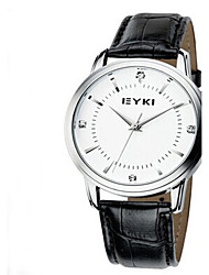 Муж. Спортивные часы Модные часы Кварцевый Кожа Группа Повседневная Белый