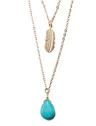 Femme Pendentif de collier Colliers chaînes Bijoux Forme Géométrique Plaqué or AlliageBasique Original Tatouage Pendant Naturel