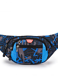 Men Waist Bag Polyester All Seasons Casual Outdoor Square Zipper Red Blue