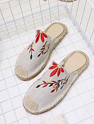 Women's Sandals Comfort PU Spring Summer Casual Dress Chunky Heel White Dark Blue Green Khaki 1in-1 3/4in
