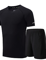 Men's Running T-Shirt with Shorts Short Sleeves Moisture Wicking Quick Dry Breathable Clothing Suits for Running/Jogging Exercise &