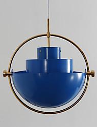 Post europea estilo moderno gire sombra bule lámpara de araña de color para el dormitorio / sala de estar / cantina / barra / entrada