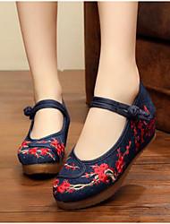 Women's Wedding Shoes Comfort Fabric Spring Casual Comfort Black 2in-2 3/4in