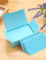 1 pc 90 pages soild color diy paper card