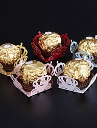50pcs The Crown Candy Box Bar Party Favors Chocolate Bar Cake Accessories Wedding Favors Chocolate Box Wedding Party Decoration