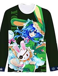 Ispirato da Date A Live Cosplay Anime Costumi Cosplay Cosplay T-shirt Cartoni animati Manica lunga Top Per Unisex
