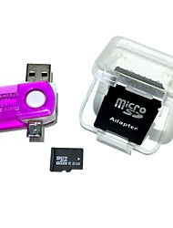 8GB MicroSDHC TF Memory Card with 2 in 1 USB OTG Card Reader Micro USB OTG