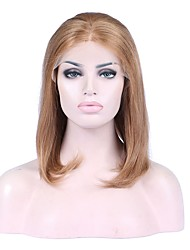 Fashionable and Beautiful Golden Blonde Human Hair Lace Front Wigs 100% Unprocessed Natural Straight Brazilian Virgin Remy Human Hair Wig