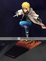 Las figuras de acción del anime Inspirado por Naruto Minato Namikaze PVC CM Juegos de construcción muñeca de juguete
