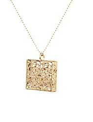 Women's Pendant Necklaces AAA Cubic Zirconia Square Alloy Basic Fashion Vintage Punk Hip-Hop Personalized Rock Hypoallergenic Jewelry For