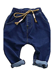 Girls' Solid Jeans-Cotton Acrylic All Seasons