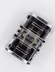 3528 2 pinos rgb impermeável cola led encadernador cinturão conector - fivela conexão lâmpada com hipopótamo em ambos os lados