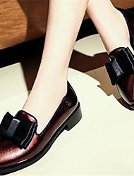 Damen Schuhe Lackleder Frühling Komfort Loafers & Slip-Ons Mit Für Normal Schwarz Rot