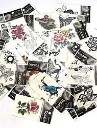 Tatuagens Adesivas Séries Animal Série Florida Séries Totem Série dos desenhos animados Série romântica Estampado Lombar Á Prova d'água