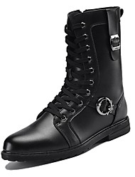 Men's Boots Snow Boots Fashion Boots Motorcycle Boots Combat Boots Synthetic Microfiber PU Winter Casual Outdoor Office & Career Lace-up