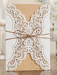 Format Enveloppe & Poche Invitations de mariage 50-Cartes d'invitation Style classique Papier gaufré