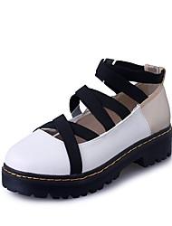 Damen Outdoor Komfort Sommer PU Normal Niedriger Absatz Weiß 5 - 7 cm