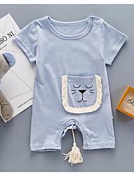 Une-Pièce bébé Animal Dessin-Animé Coton Eté Manches Courtes