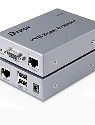 DTech VGA USB Type B Switch/Extender VGA USB Type B to VGA USB 2.0 RJ45 Switch Female - Female Extend up to 200M