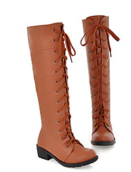 Women's Boots Comfort Fabric Fall Winter Casual Wine Brown White 2in-2 3/4in