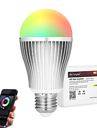 9W Ampoules LED Intelligentes A60(A19) 20 SMD 5730 900 lm RGB + BlancCapteur infrarouge Intensité Réglable Commandée à Distance Wi-Fi
