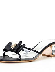 Для женщин Сандалии Обувь через палец Термопластик Лак Лето Осень Свадьба Для праздника Для вечеринки / ужинаБант Искусственный жемчуг