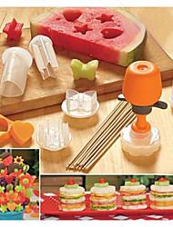 Ananas Concombre Incarnadin Hami Melon Kiwi Mangue Fruit du dragon pomme Mold DIY For Pour Ustensiles de cuisine Pour Fruit Plastique