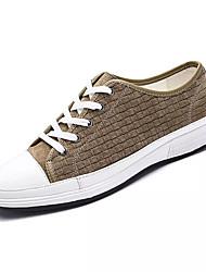 Da uomo Sneakers Comoda PU (Poliuretano) Primavera Autunno Casual Footing Lacci Piatto Arancione Blu marino Cachi 5 - 7 cm